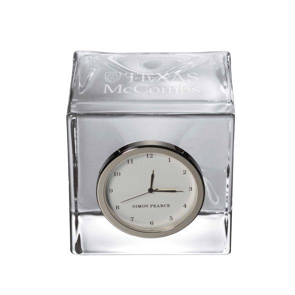 Texas McCombs Glass Desk Clock by Simon Pearce - Image 1