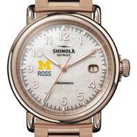 Michigan Ross Shinola Watch, The Runwell Automatic 39.5mm MOP Dial