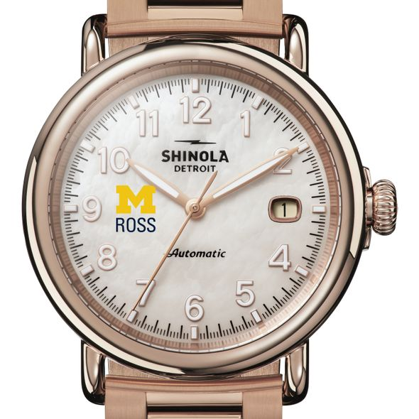 Michigan Ross Shinola Watch, The Runwell Automatic 39.5mm MOP Dial - Image 1