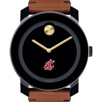 Washington State University Men's Movado BOLD with Brown Leather Strap