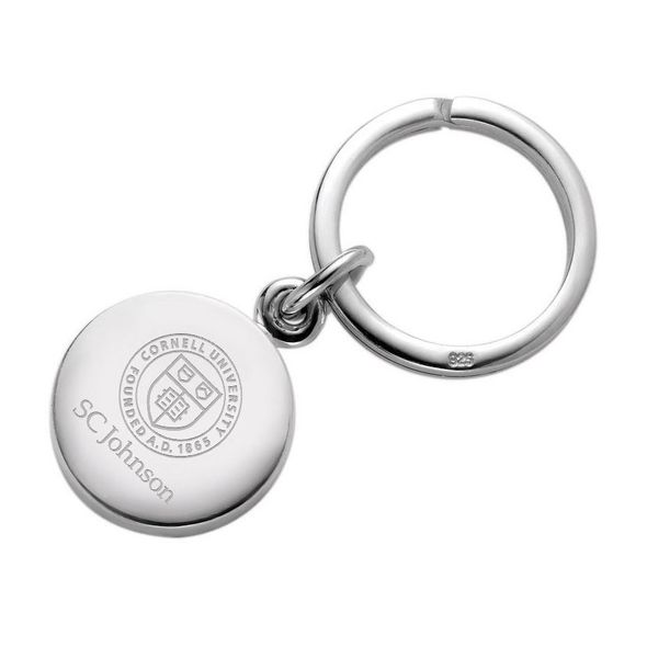 SC Johnson College Sterling Silver Insignia Key Ring