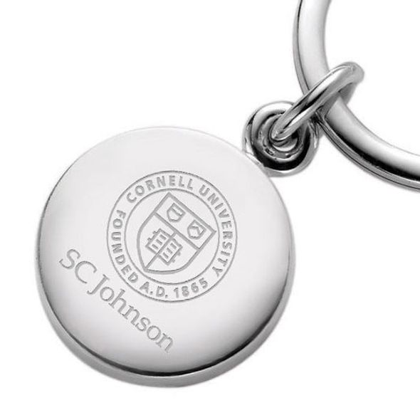 SC Johnson College Sterling Silver Insignia Key Ring - Image 2