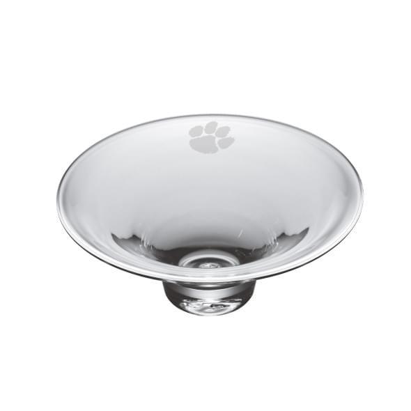 Clemson Glass Hanover Bowl by Simon Pearce
