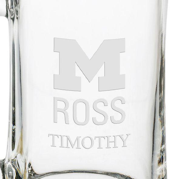 Michigan Ross 25 oz Beer Mug - Image 3