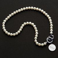 Kappa Alpha Theta Pearl Necklace with Sterling Silver Charm