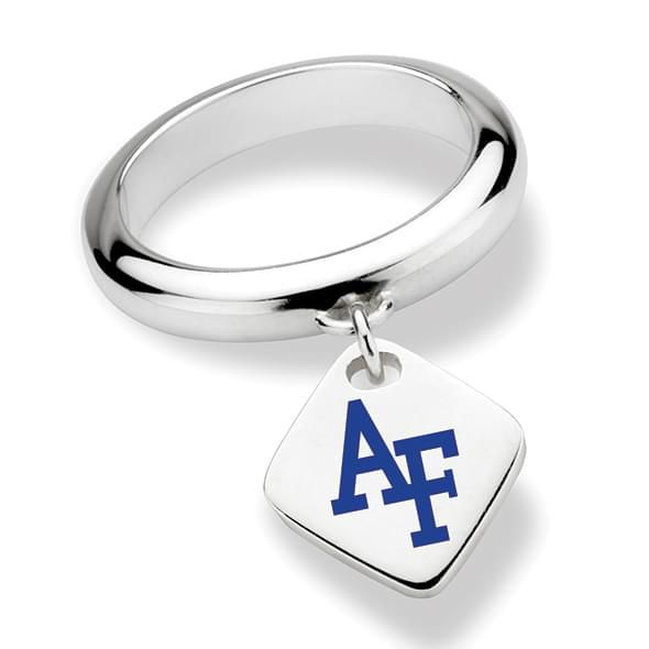 US Air Force Academy Sterling Silver Ring with Sterling Tag