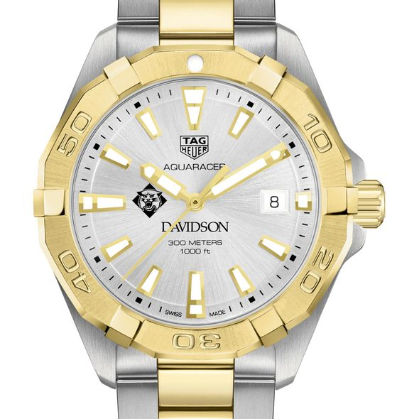 Davidson College Men's TAG Heuer Two-Tone Aquaracer - Image 1