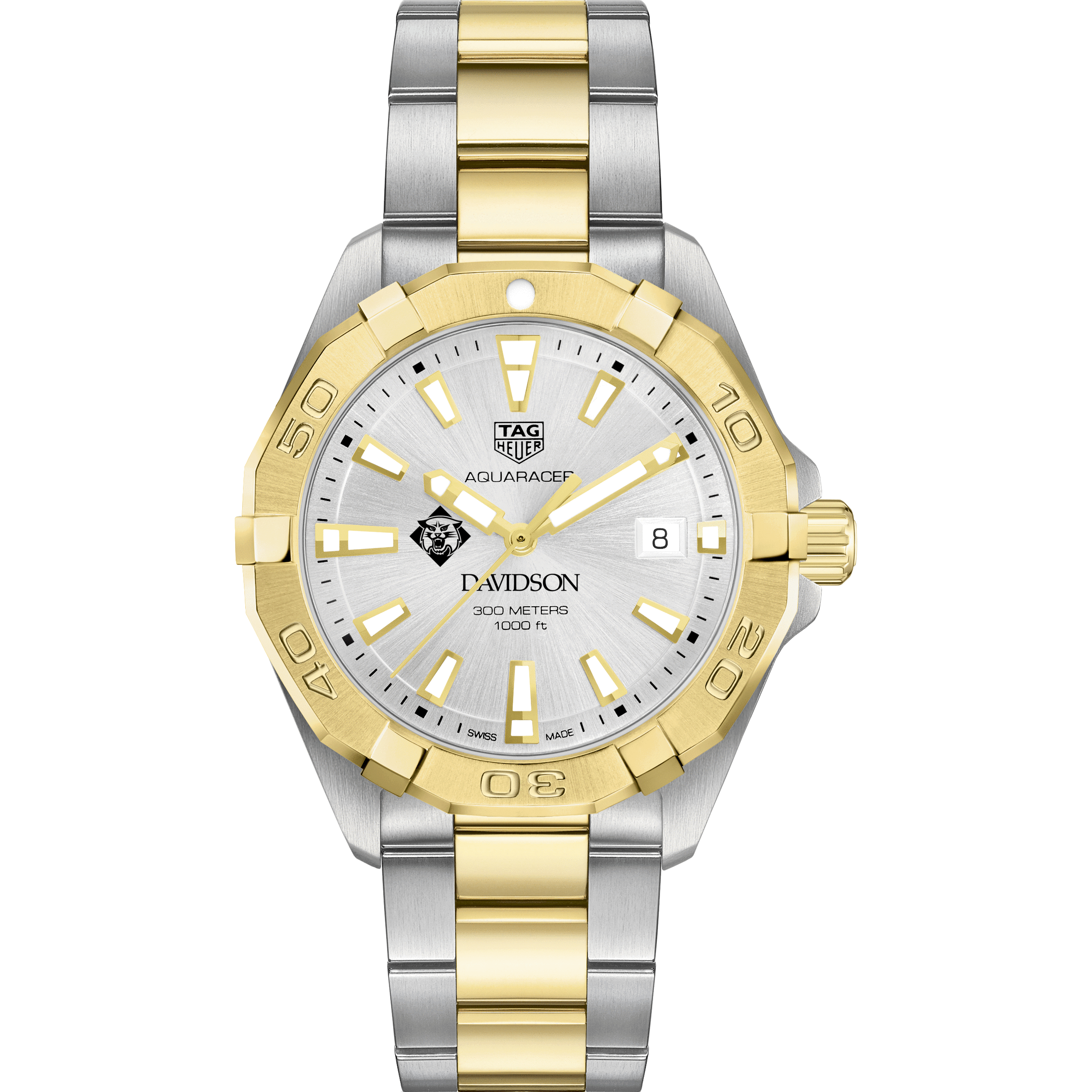 Davidson College Men's TAG Heuer Two-Tone Aquaracer - Image 2