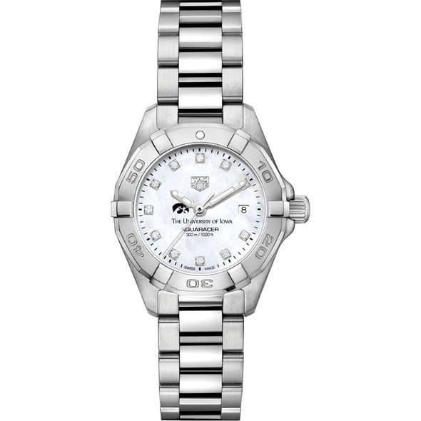 Iowa Women's TAG Heuer Steel Aquaracer with MOP Diamond Dial - Image 2