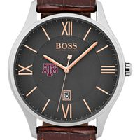 Texas A&M University Men's BOSS Classic with Leather Strap from M.LaHart