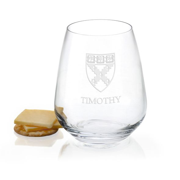 Harvard Business School Stemless Wine Glasses - Set of 2