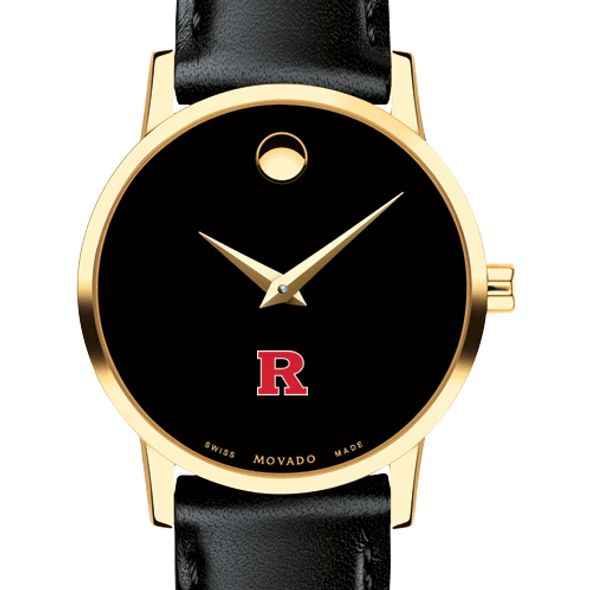 Rutgers University Women's Movado Gold Museum Classic Leather