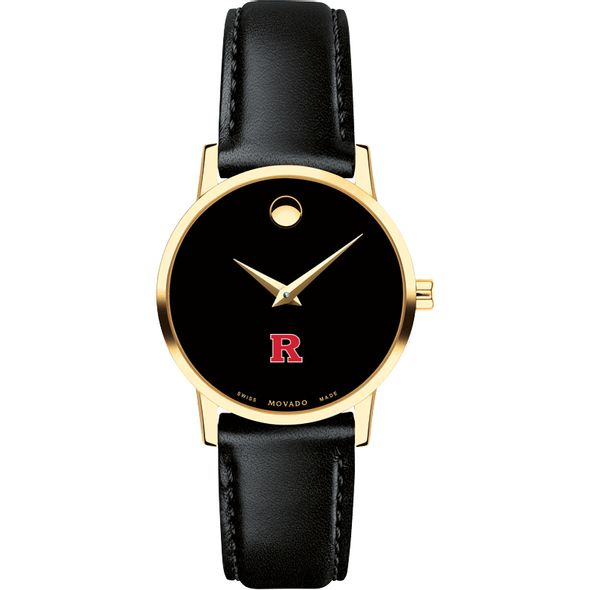 Rutgers University Women's Movado Gold Museum Classic Leather - Image 2