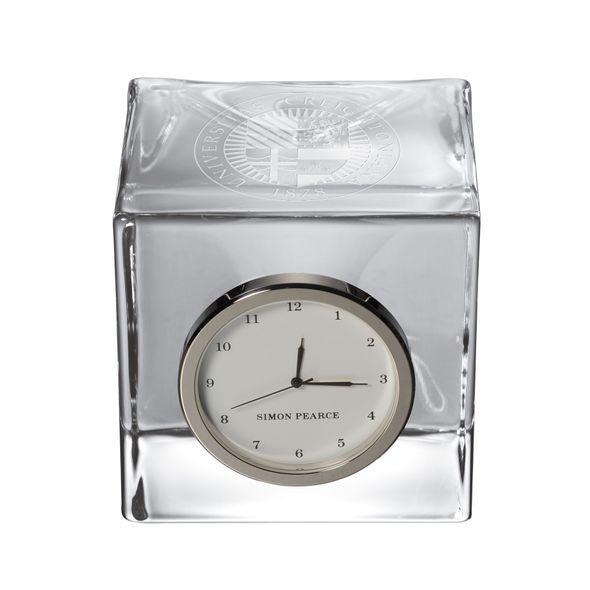 Creighton Glass Desk Clock by Simon Pearce