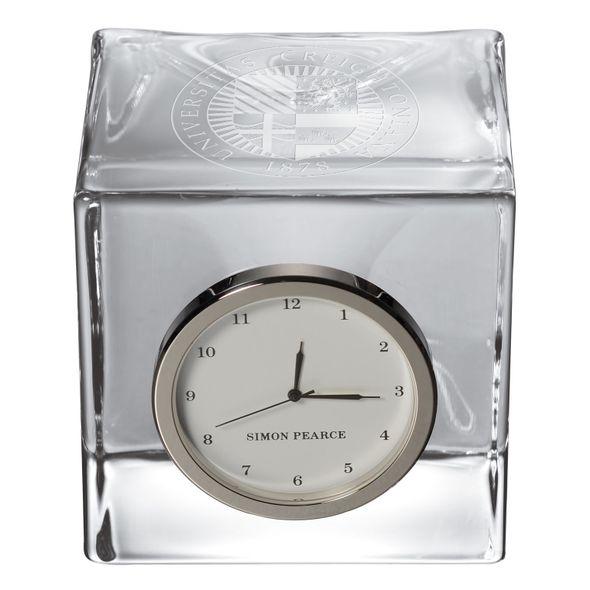 Creighton Glass Desk Clock by Simon Pearce - Image 2