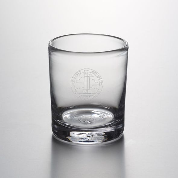 NC State Double Old Fashioned Glass by Simon Pearce