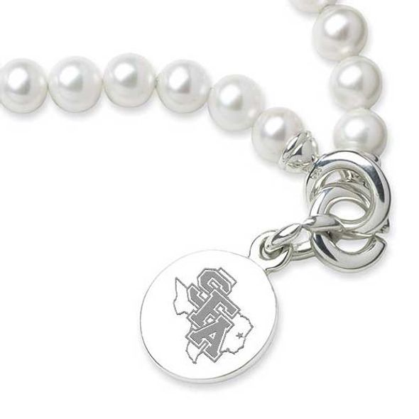 SFASU Pearl Bracelet with Sterling Silver Charm - Image 2