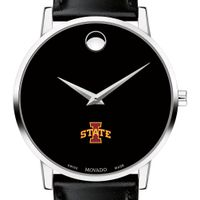 Iowa State University Men's Movado Museum with Leather Strap