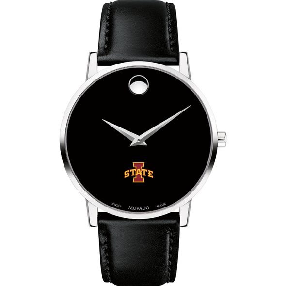 Iowa State University Men's Movado Museum with Leather Strap - Image 2