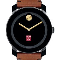 Temple Men's Movado BOLD with Brown Leather Strap