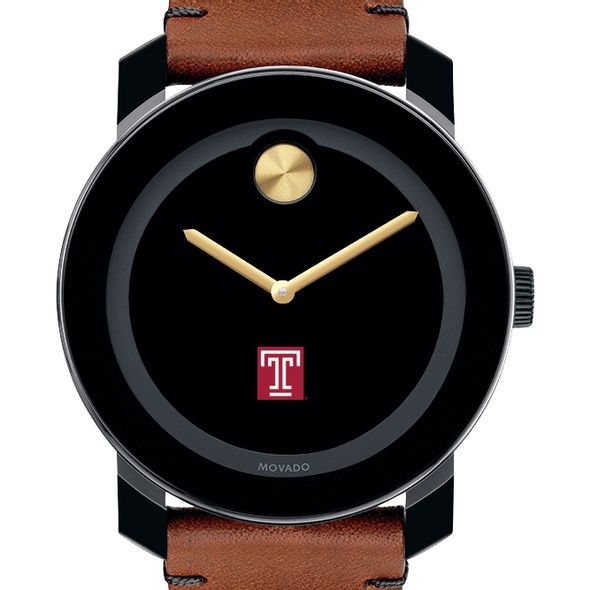 Temple Men's Movado BOLD with Brown Leather Strap - Image 1