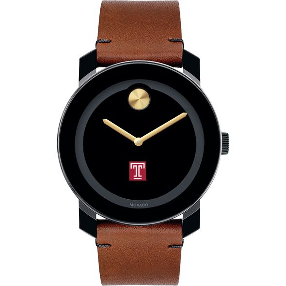 Temple Men's Movado BOLD with Brown Leather Strap - Image 2