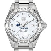 Penn State University W's TAG Heuer Steel Aquaracer with MOP Dia Dial & Bezel