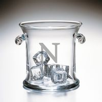 Northwestern Glass Ice Bucket by Simon Pearce