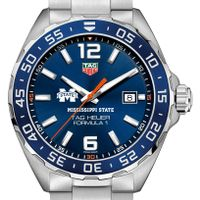 Mississippi State Men's TAG Heuer Formula 1 with Blue Dial & Bezel