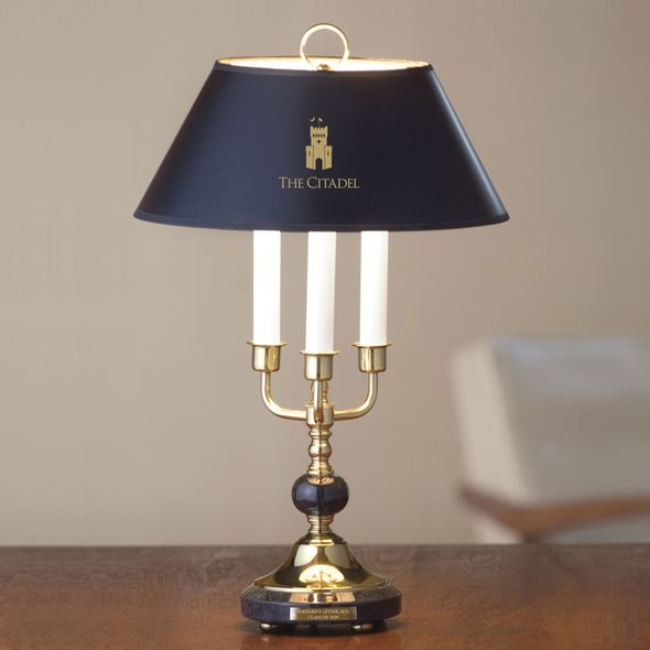 Citadel Lamp in Brass & Marble