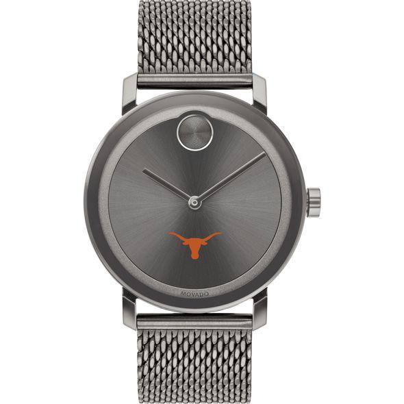 University of Texas Men's Movado BOLD Gunmetal Grey with Mesh Bracelet - Image 2
