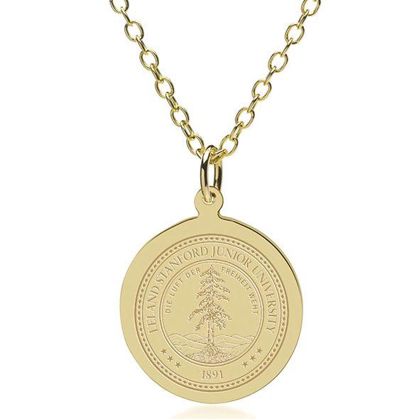 Stanford University 14K Gold Pendant & Chain