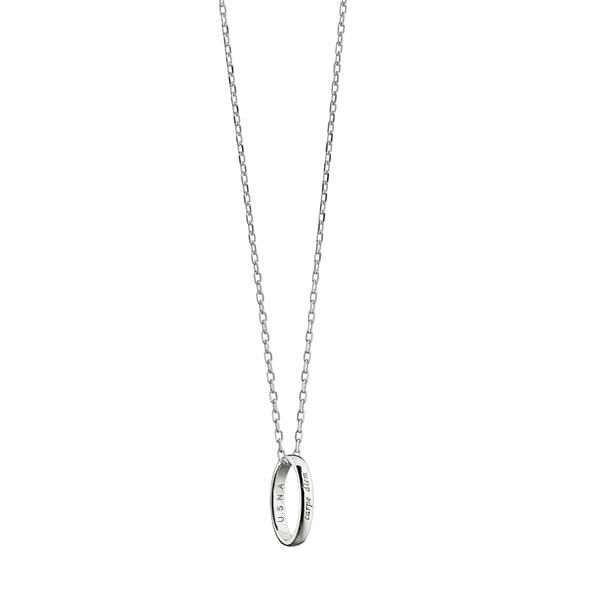 "Naval Academy Monica Rich Kosann ""Carpe Diem"" Poesy Ring Necklace in Silver - Image 2"