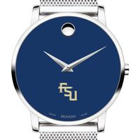 Florida State University Men's Movado Museum with Blue Dial & Mesh Bracelet
