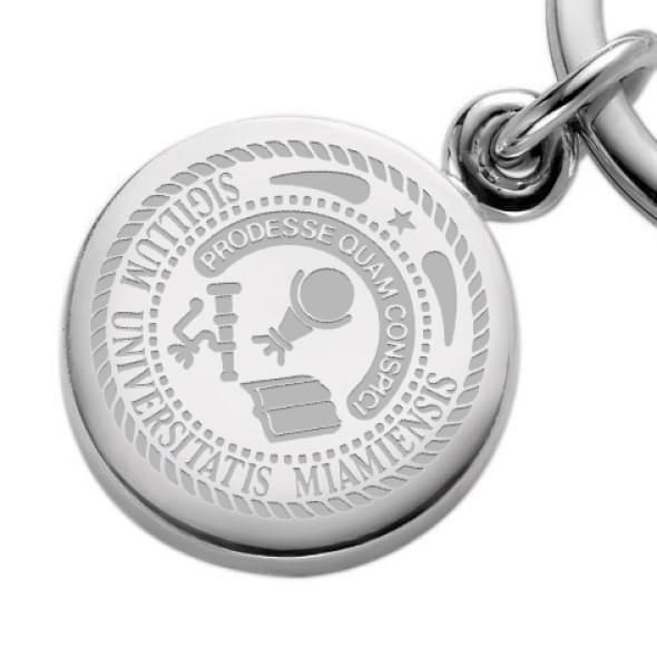 Miami University Sterling Silver Insignia Key Ring - Image 2