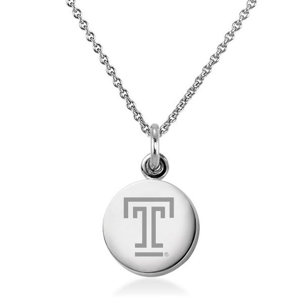 Temple Necklace with Charm in Sterling Silver