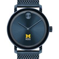 Michigan Ross Men's Movado Bold Blue with Mesh Bracelet