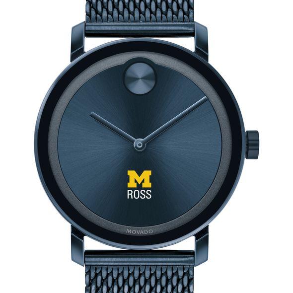 Michigan Ross Men's Movado Bold Blue with Mesh Bracelet - Image 1