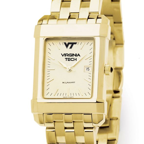 Virginia Tech Men's Gold Quad Watch with Bracelet - Image 1