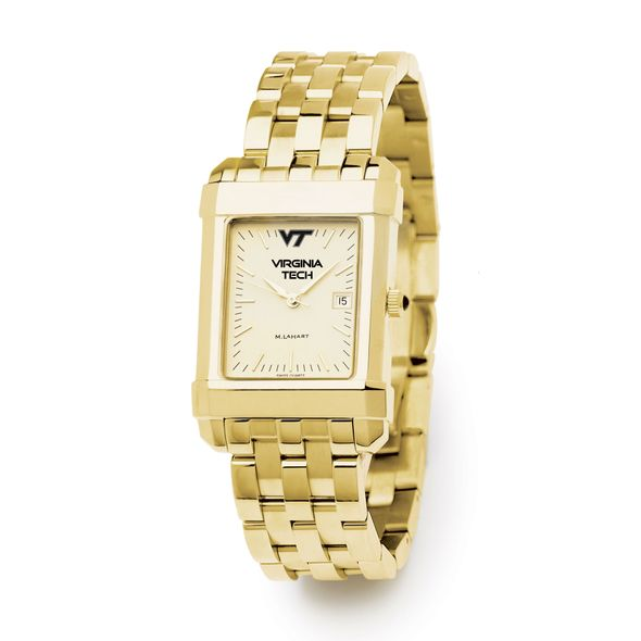 Virginia Tech Men's Gold Quad Watch with Bracelet - Image 2