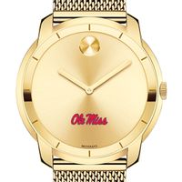 University of Mississippi Men's Movado Gold Bold 44