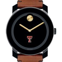 Texas Tech Men's Movado BOLD with Brown Leather Strap