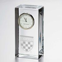 University of Richmond Tall Glass Desk Clock by Simon Pearce