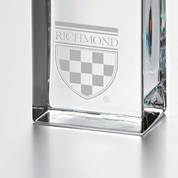 University of Richmond Tall Glass Desk Clock by Simon Pearce - Image 2