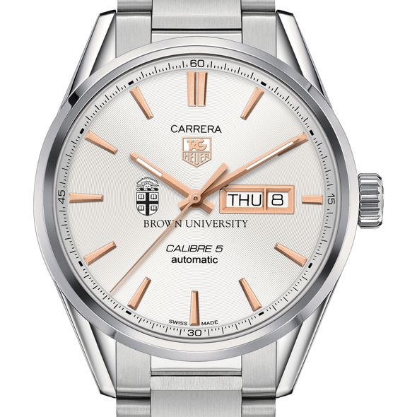 Brown University Men's TAG Heuer Day/Date Carrera with Silver Dial & Bracelet