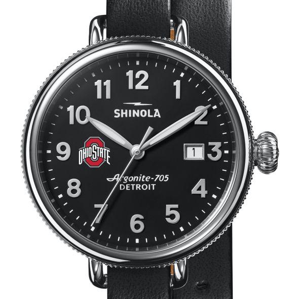Ohio State Shinola Watch, The Birdy 38mm Black Dial - Image 1