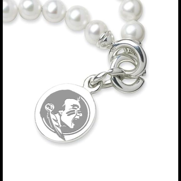 Florida State Pearl Bracelet with Sterling Silver Charm - Image 2