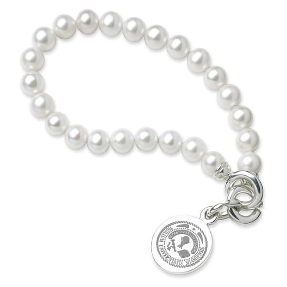 Miami University Pearl Bracelet with Sterling Silver Charm