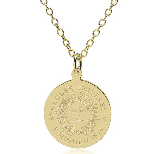 Syracuse University 14K Gold Pendant & Chain