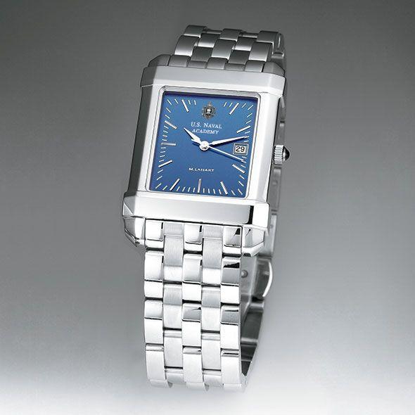 USNA Men's Blue Quad Watch with Bracelet - Image 2